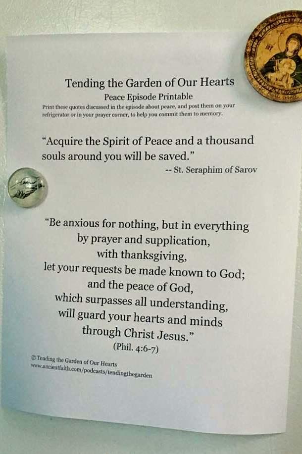 Peace printable illustration